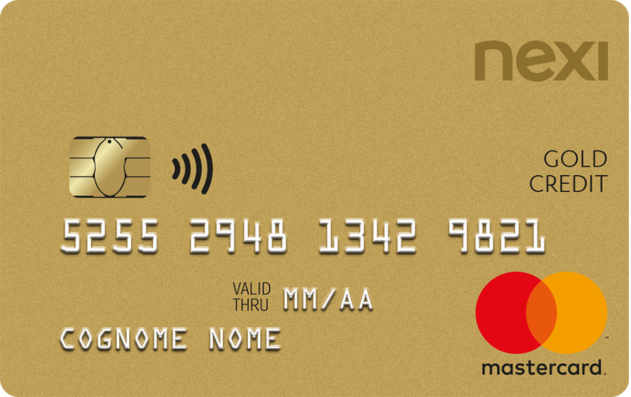 Nexi Gold credit card