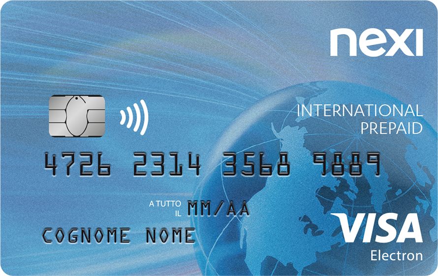 Carta prepagata Nexi Prepaid International