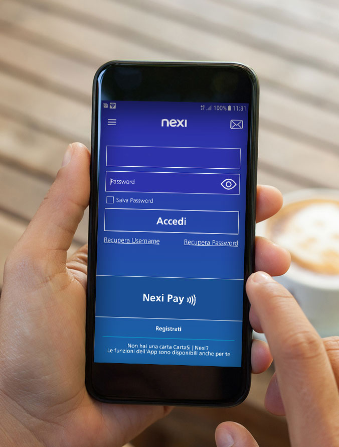 Nexi Pay to manage your cards and pay all in one app
